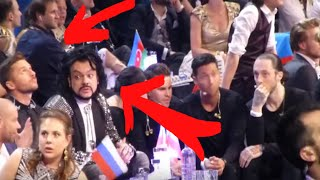 Сергей Лазарев переживает финал Евровидения 2016 (другой ракурс)