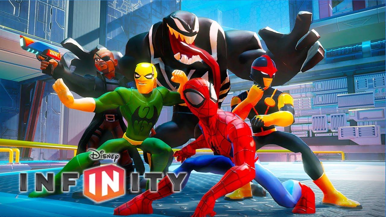 Spiderman super h ros marvel jeux vid o de dessin anim en fran ais disney infinity 3 0 youtube - Dessin super heros marvel ...