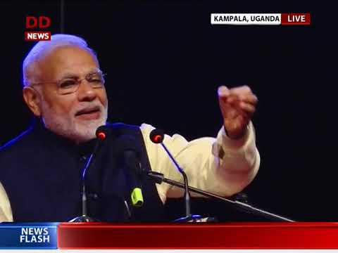 PM Narendra Modi addresses Indian community in Kampala, Uganda