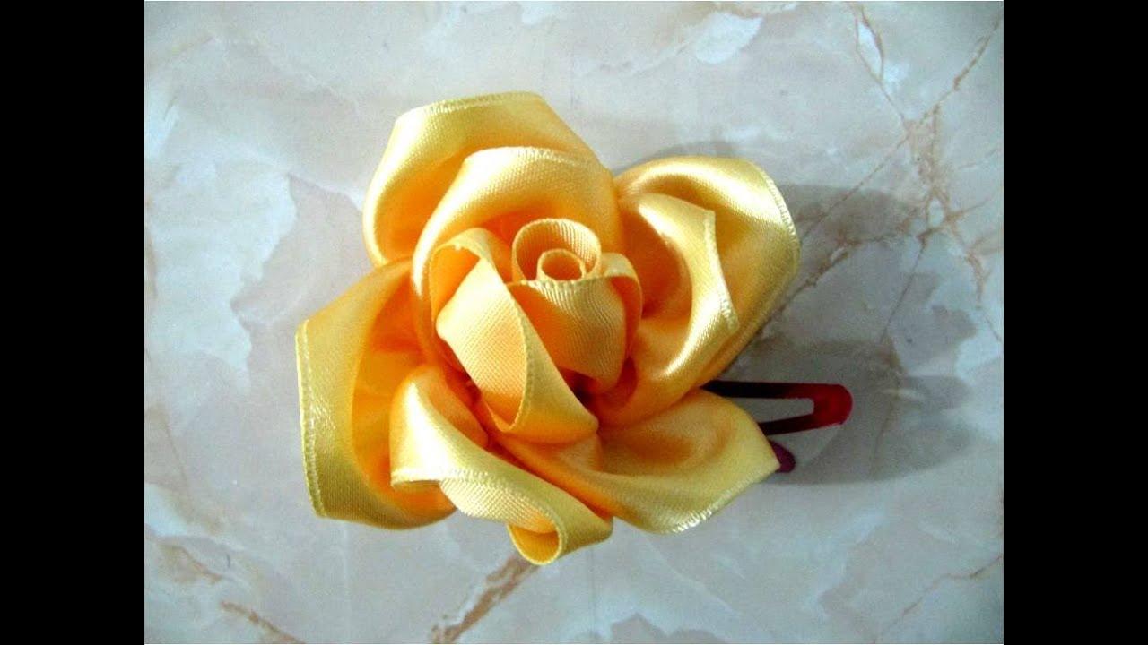 Mo os de rosas hermosas para el cabello youtube - Como hacer flores ...
