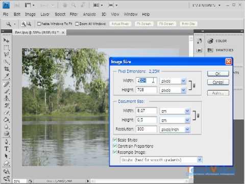 Уменьшение размера фотографии в Photoshop