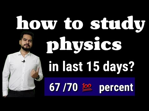 How to study physics in last 15 days ?|| time table for last 15 days