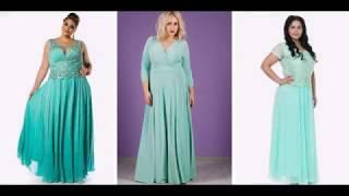 Платья Мятного Цвета для Полных Девушек и Женщин|платье девушка мода
