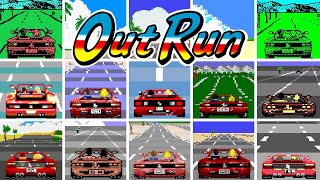OutRun  Versions Comparison (HD 60 FPS)