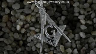Sterling Silver Masonic Pendant Square & Compass DWA420