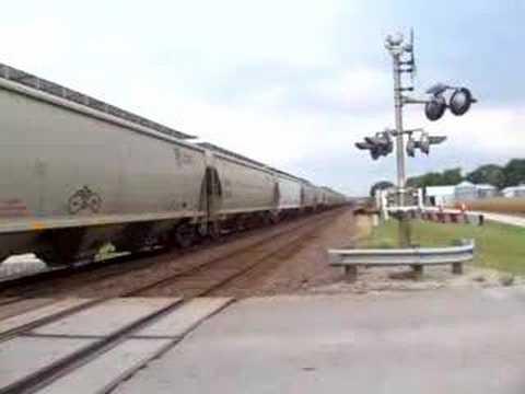 UP Freight At Grantville, Ks.  Sept. 18, 2007