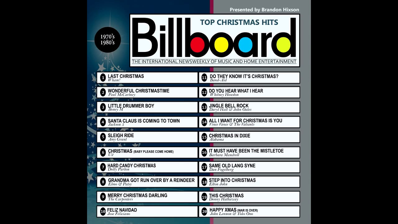 Billboard Top Christmas Hits 1970\'s - 1980\'s - YouTube