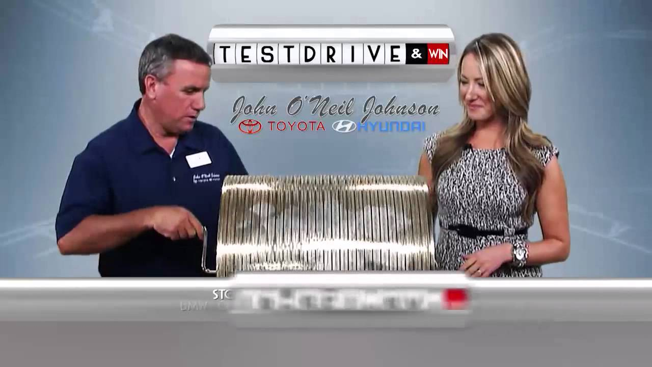 Test drive and win at john o neil johnson toyota