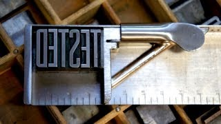 Tested Learns the Craft of Letterpress Printing