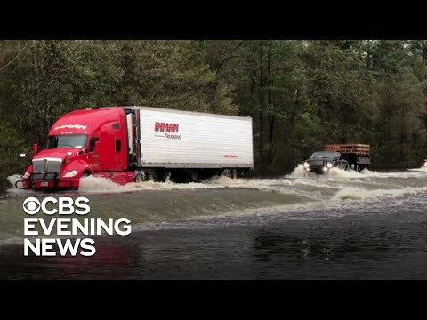 Wilmington, North Carolina, cut off from mainland by floodwaters