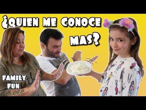 Reto Mamá Vs. Papá ¿Quien me conoce mas? Family Fun Vlogs