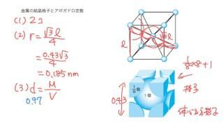 64 金属の結晶格子とアボガドロ定数(ニューグローバル解いてみた)