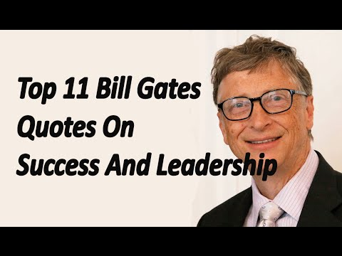 Quotes by bill gates on success