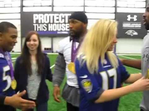 Jessica Long tells John Harbaugh & Baltimore Ravens that pressure is a privilege