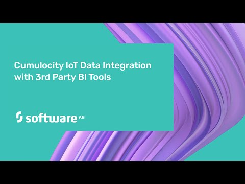 Cumulocity IoT Data Integration with 3rd Party BI Tools