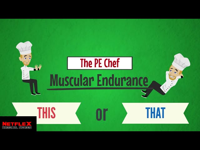 PE Chef: Muscular Endurance THIS or THAT (5 Components of Fitness) Active Knowledge Check