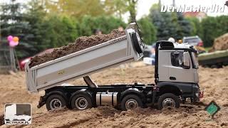 DUMP TRUCKS & EXCAVATOR / 1:14 SCALE CONSTRUCTION SITE / SCALE-PARK / FAŁKÓW 2019