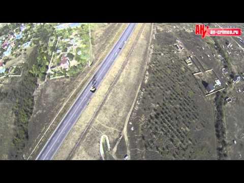 Обвал дороги в Симферополе