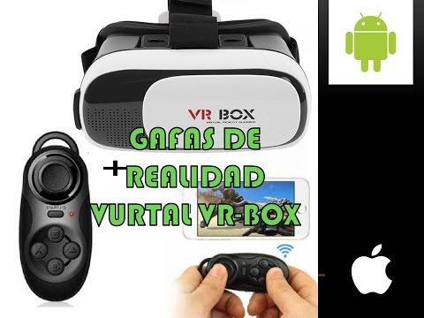 GAFAS REALIDAD VIRTUAL VR BOX + Joystick Mini Control Remoto REVIEW EN ESPAÑOL LATINO