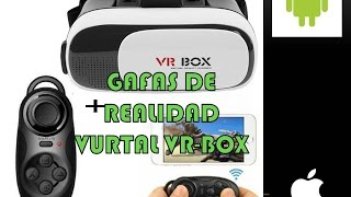 GAFAS REALIDAD VIRTUAL VR BOX 2018 + Joystick Mini Control Remoto REVIEW EN ESPAÑOL LATINO