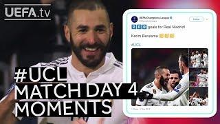RONALDO, BENZEMA, ZRVENA: #UCL Match Day Four Moments