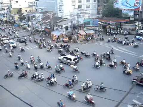 Rush Hour Traffic in Ho Chi Minh City (Saigon), Viet Nam