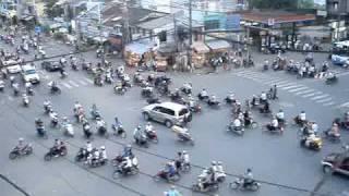 Rush Hour Traffic in Ho Chi Minh City, Viet Nam