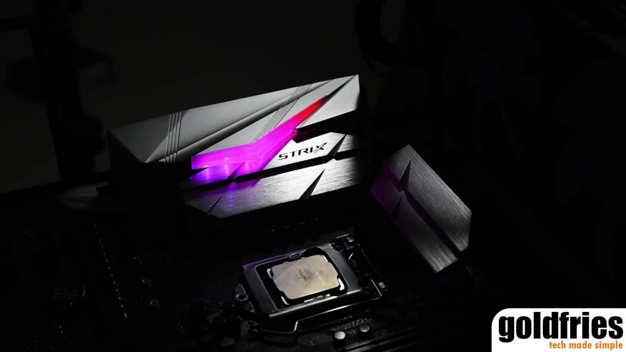 Aura RGB LED Lights on ASUS ROG STRIX Z370-E Gaming Motherboard