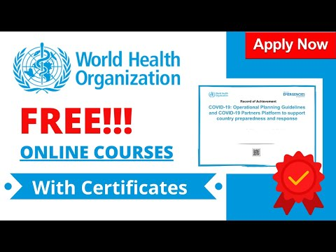 How to Enroll in WHO Free Online Courses? | Free Verified Certificates | Complete Guide