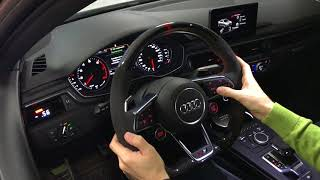 Steering wheel from TTRS for Audi A4 B9 Carbon Edition