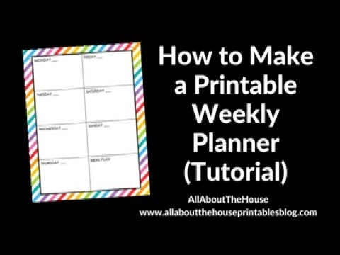 how to make a simple weekly planner in photoshop step by step tutorial