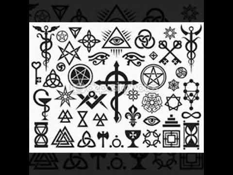 Símbolos satânicos ,religiosos e letras
