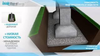 Как выбрать фундамент для частного дома(Разные типы почв требует разного устройства прочного фундамента http://www.knauftherm.ru/application/thermal_insulation/foundations...., 2015-02-18T08:45:01.000Z)