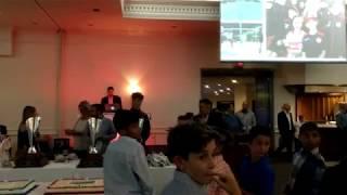 Vaughan Soccer Club Banquet September 21, 2018 - 2001 Boys Raffle Ticket draw