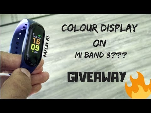 colour display on mi band 3 (bakeey m3 fitness band review)