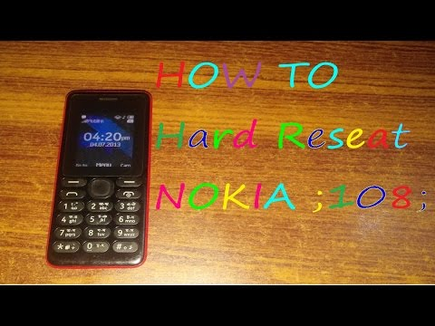 How to Hard Reset NOKIA 108 AND change security coad in URDU/HANDI/ Persian Official language