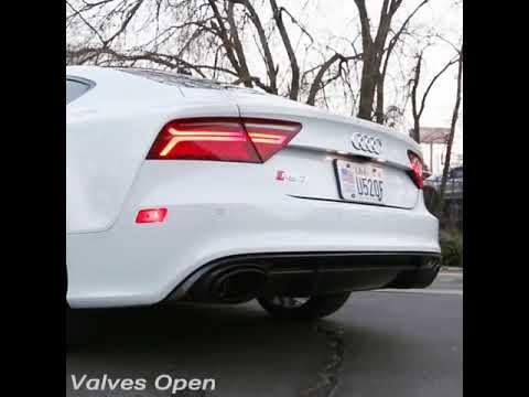 Audi Rs7 Sportback Armytrix Valvetronic Exhaust Loud Revs Sound