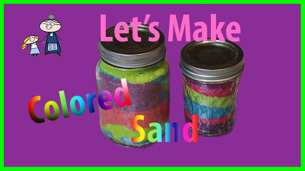 How to make COLORED SAND with Food Coloring ~ DIY Colored Sand for ...