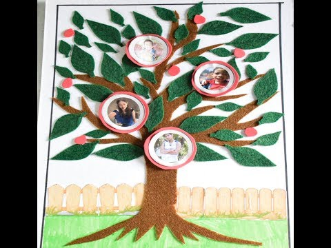 How To Make Family Tree - My Family Tree With Photo Project By
