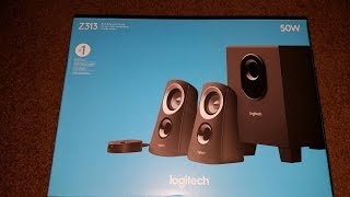 Logitech Z313 Computer Speakers Unboxing and Review!