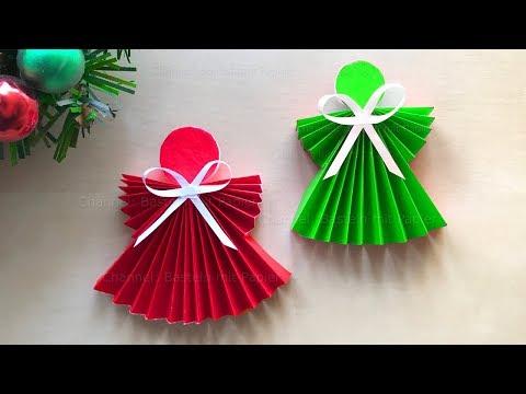 Weihnachten Basteln: Weihnachtsengel basteln mit Papier - Weihnachtsdeko selber machen - DIY Origami