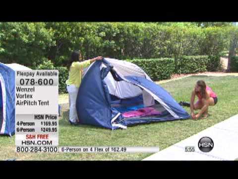 Wenzel Vortex 6Person AirPitch Tent & Wenzel Vortex 6Person AirPitch Tent - YouTube