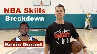 NBA Skills Breakdown - How Kevin Durant Gets His Shot Off (Hesitation Pull-Up)