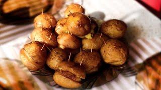 Картошка с салом и чесноком