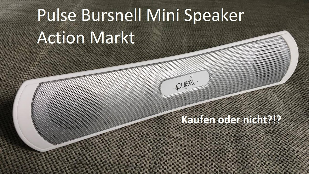 Pulse Bursnell Mini Speaker Bluetooth Vom Action Markt