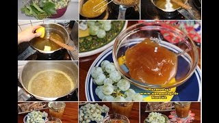 ( Sarı ) üzüm MARMELATI nasıl yapılır?  beyaz üzüm marmelat tarifi
