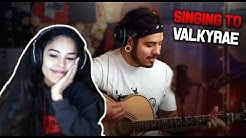 SINGING to VALKYRAE on Stream! (w/ chat reactions)