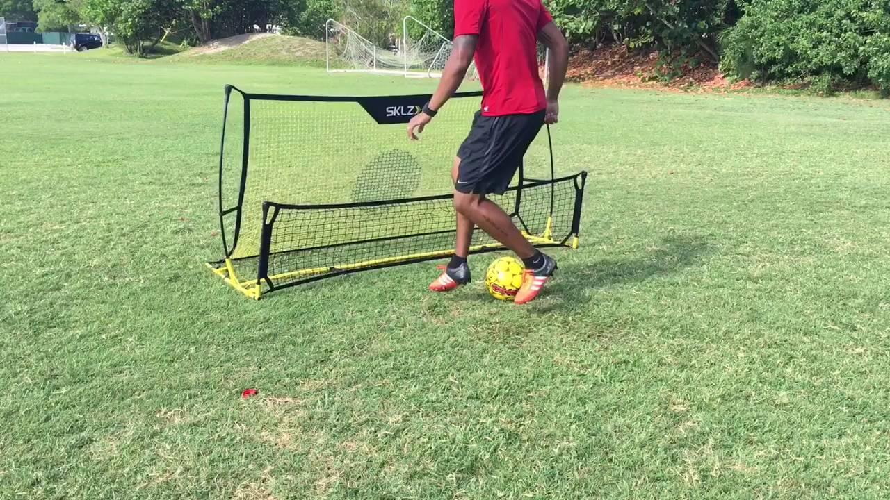 98a1ed570 Sklz soccer rebounder - YouTube