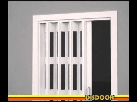 Lo fcil que es colocar una puerta plegable Disdoor  YouTube