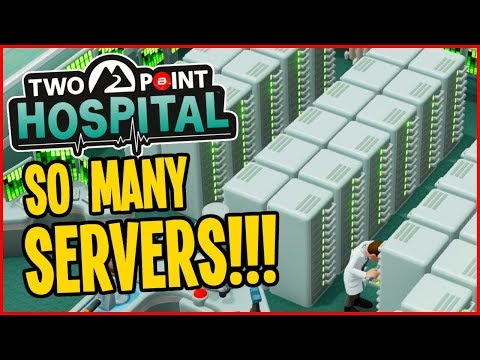 AMAZING Server Research Room!! - Two Point Hospital Gameplay #17 (Full Release)